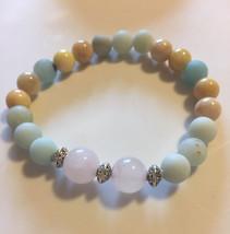 Gemstone Yoga Healing Crystals Stretchy Bracelet Handmade - $18.69
