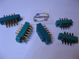 Miniature Connectors 11 and 14 Pin Assorted - NOS Qty 5  - $9.49