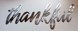 thankful Metal Wall Art Words Silver - $16.82
