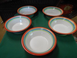 """Great Handpainted GIBSON Pottery China Set of 5 BOWLS...7.5"""" - $19.12"""