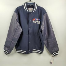 Majestic Men 2018 World Series Varsity Letterman Bomber Jacket Baseball ... - $55.96