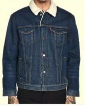 MENS LEVI'S TYPE 3 SHERPA FULLY LINED DENIM JEAN JACKET Size 4XL - $96.23