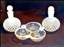 Milk Glassware AB 734 Vintage 3Pc