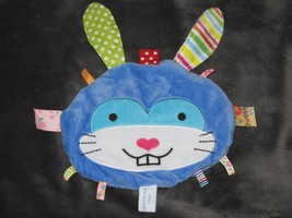 Baby Snoozies Bunny Rabbit Toy Blue Tags Taggies Ribbons Crinkle Texture Blanket - $34.64