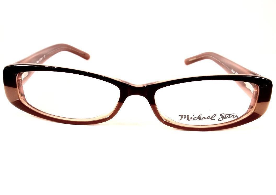 ecae8b1cd97 ... Michael Stars Eyeglasses Up Beat Cocoa Brown Women 49-14-135 New Frame  ...