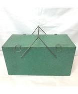 Vintage Preway Speckled Metal Camp & Picnic Ice Box Chest Cooler Prentis... - $99.95