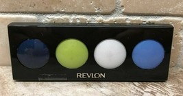 Revlon Illuminance Creme Eye Shadow Quad 712 ELECTRIC POP Blue Green Whi... - $7.51