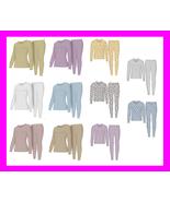 WOMEN'S Thermal TOP & BOTTOM SET Waffle Knit Long Johns Warm Underwear P... - $13.97