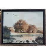 Woody Gwyn,Original,Watercolor,Signed,Historic Location,Texas,Ranch,Land... - $650.00