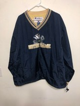 Vintage Notre Dame Champion Pull Over Windbreaker Irish Jacket Size XL - $23.03