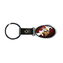 Non Metal Nfl Minnesota Vikings Accent Key Ring By Rico Industries (Length=1.25) - $12.32