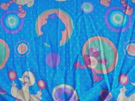Sesame Street Twin Fitted Sheet Blue Polka Dots Elmo Big Bird Cookie Monster - $12.86