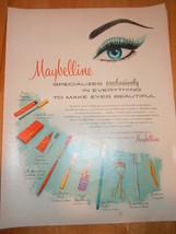 Vintage Maybelline Make-Up Magazine Advertisement 1960 - $4.99