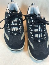 Skechers Shape Ups Shoes Women's Walking Toning Black White Size 7.5 Sne... - $28.49