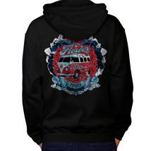 Flower Power Hippy Sweatshirt Hoody Camper Van Men Hoodie Back - $20.99+