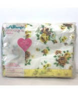 Vtg 1970s St Marys Harvest Gold Yellow Rose Blanket Twin Double Acrylic ... - $22.95