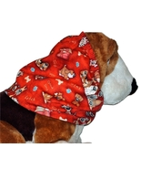 Dog Snood Fun Pack of Happy Dogs on Red Cotton by Howlin Hounds Size Small - $11.50