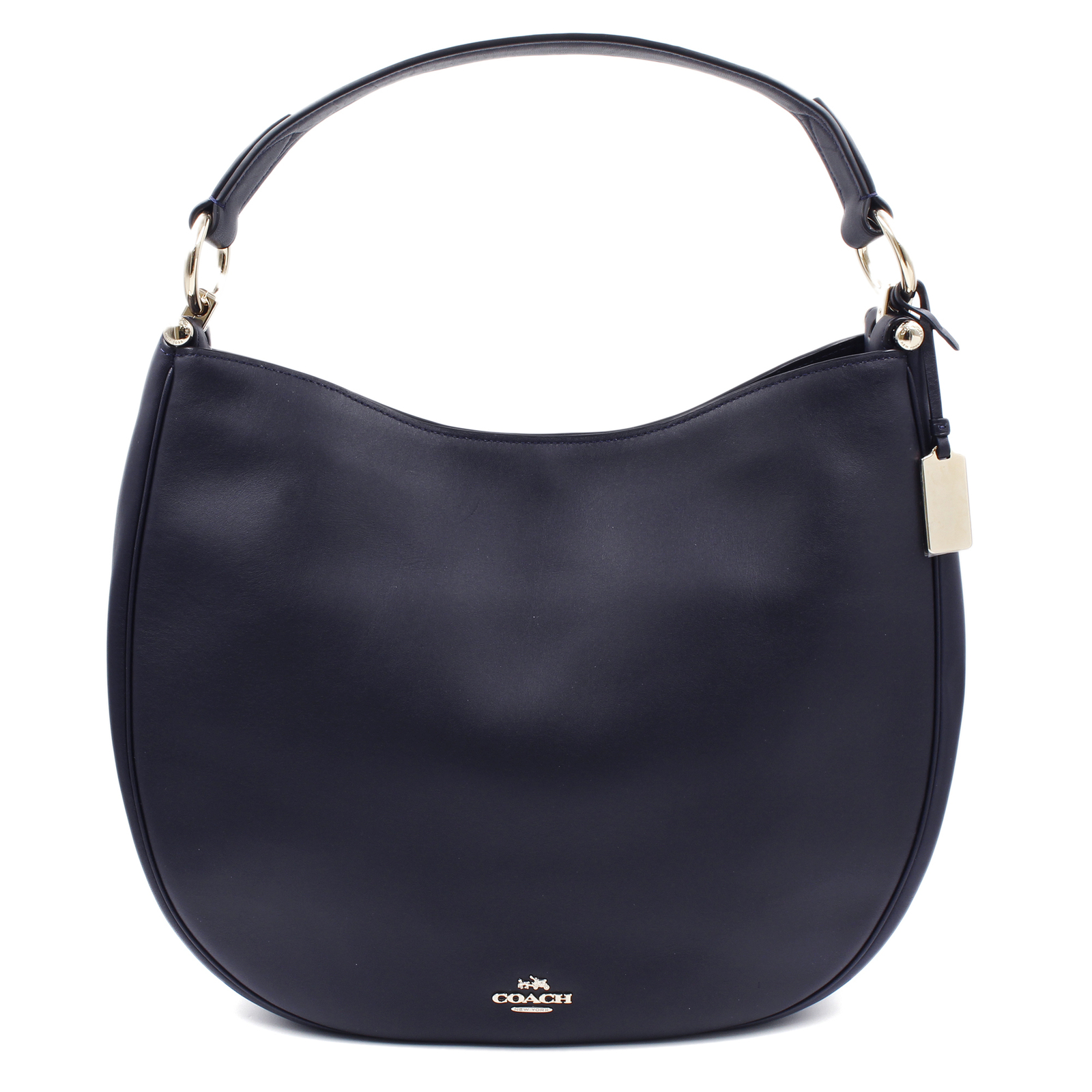 Primary image for Coach Womens Natural Calf Navy Blue Nomad Hobo Glovetan Bag 36026.LINAV