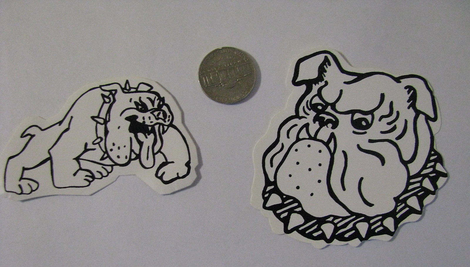 Primary image for Right & left facing decals cute white Rebel bulldogs bull dog