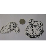 Right & left facing decals cute white Rebel bulldogs bull dog - $9.98