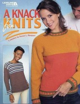 Leisure Arts A Knack For Knits 5 Sweater Patterns Book Sizes XS-2X  - $10.75