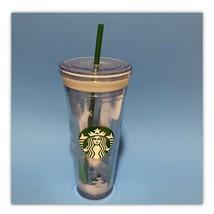 Starbucks 2011 Christmas Tumbler 24oz Venti Cold Beverage Lid and Straw Snowman - $22.20