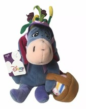 "Disney Store Winnie the Pooh Easter Bonnet Eeyore Beanbag Plush 9"" Displayed - $14.35"