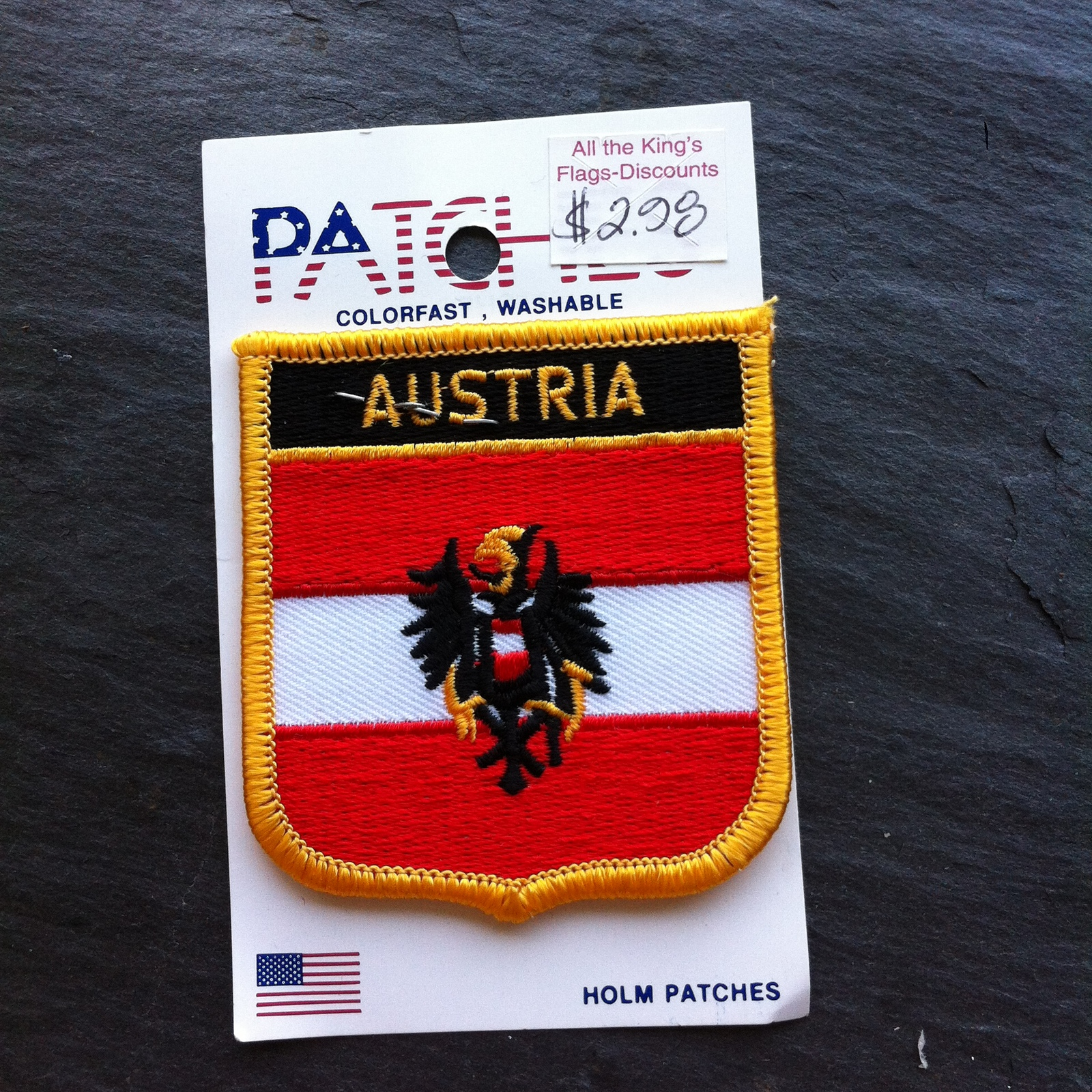 Austria Shield Patch Embroidered New Old Stock~Souvenir Patch
