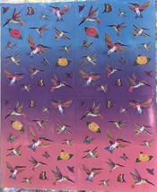Vintage Lisa Frank Dashly Hummingbird Sticker Sheet Complete Mint Mini Size