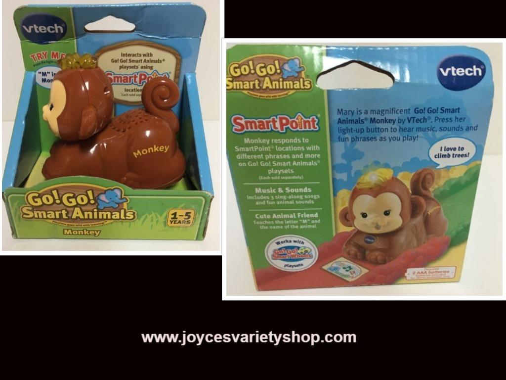 Monkey vtech toy web collage