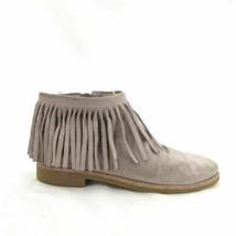 8.5 - Kate Spade Bestie Too Tan Suede Fringe Ankle Boots Booties 0000MB - $45.00