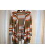 NWT Maison Jules Long Open Cardigan Sweater Striped Sz Med Org $89.50 - $42.74