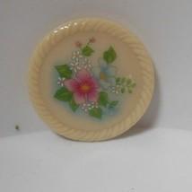 Vintage Signed Avon Floral Porcelain Brooch/Pin - $15.99