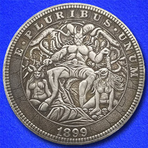 "Devil's Lair ""Hobo Nickel"" on Morgan Dollar Coin ** - $4.79"