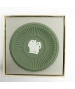 "Wedgwood Green Jasperware ""The Three Graces"" Fluted Pin Tray Trinket Dis... - $29.69"