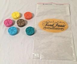 Trivial Pursuit...Set Of 6...Token Movers W/ wedges...W/ Original Game Parts Bag - $6.92