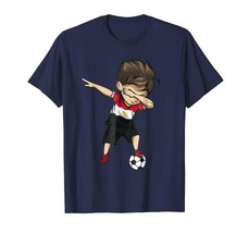 New Tee - Dabbing Soccer Boy Egypt Jersey Shirt - Egyptian Football Men - $19.95+