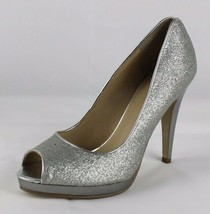 Nine West women's shoes heel silver metallic open toe size 5.5 M - $17.58