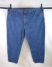 CARHARTT Blue Denim Heavy Duty Work Jeans Pants Mens Size 53 x 32 - $24.74