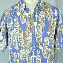 Reyn Spooner Phil Edwards Tiki Tapa Shields L Hawaiian Shirt Large Rever... - $24.04