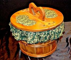 Picnic BasketAA18-1230 Vintage Handmade Lined Woven image 6
