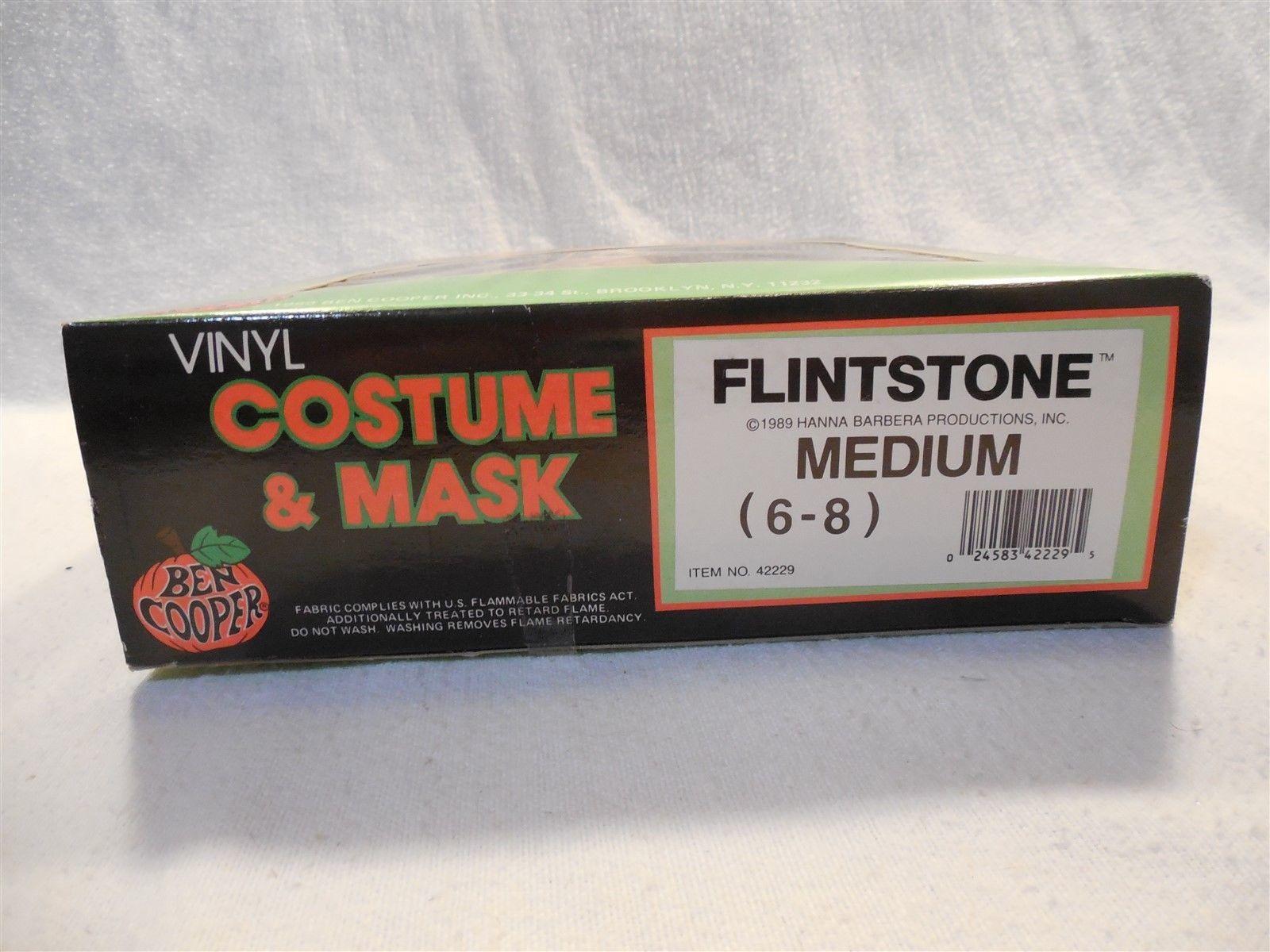 Flintstones 1989 Ben Cooper Fred Flintstone Halloween Costume No 42229 Medium
