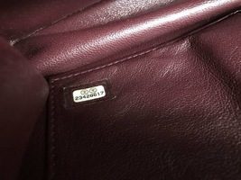 AUTHENTIC NEW Chanel Burgundy Quilted LAMBSKIN FLAP BAG GOLDTONE HW image 8