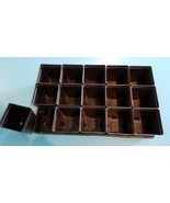 Set of 3 Divided Trays and 45 - 4.25 inch SQUARE DEEP NURSERY POTS Landmark - $33.85