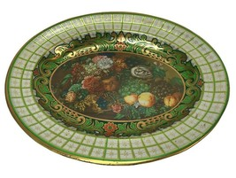 Vtg Daher Decorated Ware Floral Fruit Metal Bowl Tray Tin Wall decor Eng... - $9.89