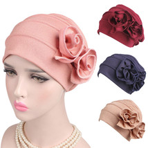 Women's winter caps Ladies Boho Cancer Hat Beanie Scarf Turban Head Wrap... - $10.35