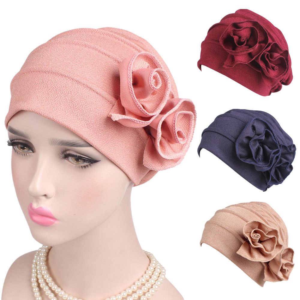 7cf83cb3 Women s winter caps ladies boho cancer hat beanie scarf turban head wrap cap  touca inverno
