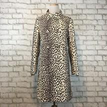 Banana Republic Women's Dressy Cream & Brown Printed Over Coat Size Medium - $38.69