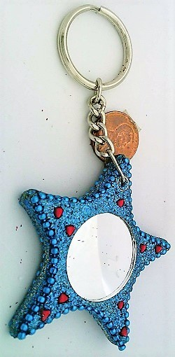 Primary image for Blue Star Mirrored Key Fob