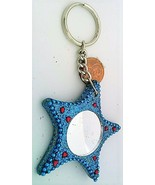 Blue Star Mirrored Key Fob - $6.53